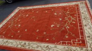 Cute brick red rug