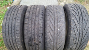 FOUR 205 55 16 MICHELIN TIRES ON MAZDA 3 RIMS