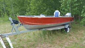 Boat and trailer with 15HP honda 4 stroke