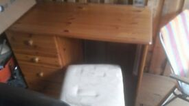 dressing table plus two bed side drawers with stool