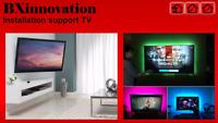 Installation support mural TV