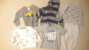 Toddler boys gently used clothes (18-24 months, 24 months, 2T)