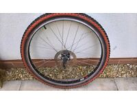 Mountain bike 26inch disc front wheel