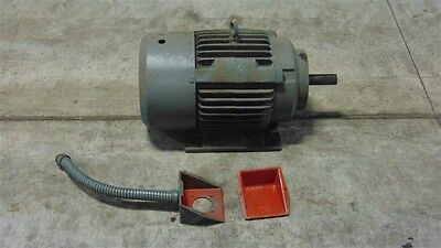 Used 10 Hp V1988a2 Reeves Electric Ac Motor 256 Frame 220-440v 1755 Rpm