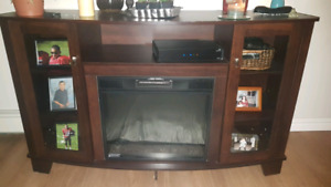 Entertainment center w/ electric fireplace