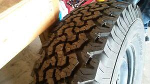 New 37``x 12.50``  All terain tire on Dodge  Ram 2500 Rim