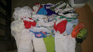Large lot of Newborn Cloth diapers