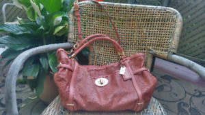 Coach style 17027 AUDREY 'Python' EMBOSSED EXOTIC TOTE  - used