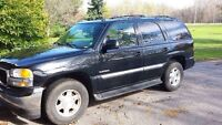 2005 yukon 5.3 auto 4x4 black with grey leather interior