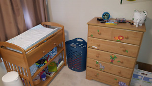 Free! Crib with mattress, change table & dresser