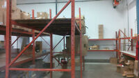 Commercial Warehouse Steel Racking 64ft Used In Good Shape