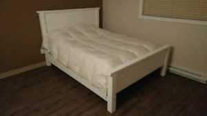 Handmade solid wood bed frame