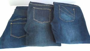 Three Pairs of Maternity Jeans, Size Small, Thyme & Old Navy