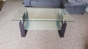Matching Glass Coffee Table + Square End Table