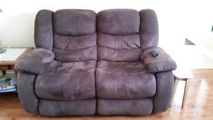 2 x love seat (sofa inclinable)