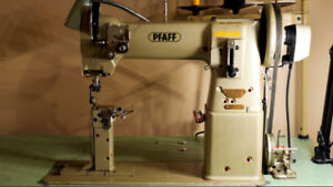 Pfaff 593 industrial post sewing machine for leather or fabric.