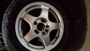 MAG RIMS with WINTER TIRES   195 / 65 / 15