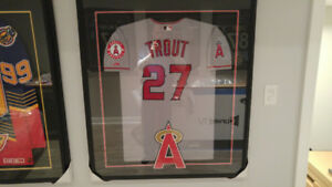 Mike Trout autographed Anaheim Angels jersey Framed