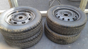 1 set of 2 TIRES AND RIMS
