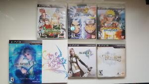PS3 GAMES - Final Fantasy, Naruto Ninja Storm, Ni no Kuni, Tales