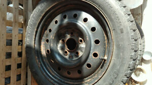 Nissan 16 inch winter rims and  winter cooper tires 205/55/R16