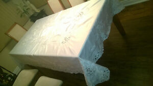 Handmade Stiched Table Cloth with 12 Napkins Kawartha Lakes Peterborough Area image 3