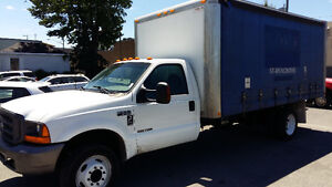 2000 Ford F-550 Curtain Side Box Truck 16 ft