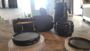 Lenses and Filters in case, reduced to sell