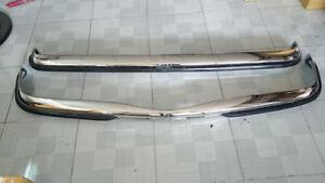Mercedes W115/W114 Series 2 Short Rubber Bumper in Steel