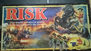Risk board game with 360 miniature army pieces