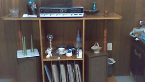 RECORD PLAYER AND SPEAKERS