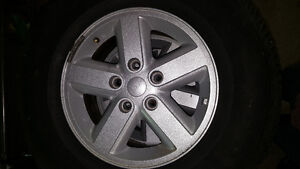 Set of 4 Jeep rims with Goodyear tires Windsor Region Ontario image 1