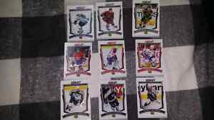 9 hockey cards with signature.
