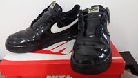 Nike Air Force 1 Low Black Patent Size 14