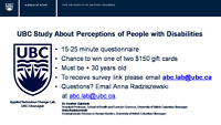 UBC Study About Perceptions of People with Disabilities