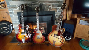 Three Vintage Gibson Guild Guitars