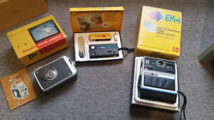 BOXED VINTAGE KODAK FILM AND MOVIE CAMERAS GREAT FOR COLLECTORS!