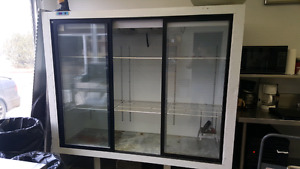 Three sliding door cooler