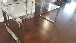 Glass table from Urban Barn