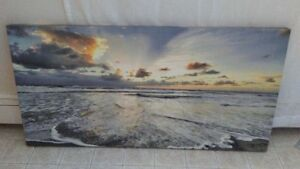 2 Canvas print pictures beach/sunset London Ontario image 1
