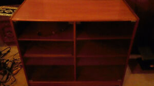 TEAK STEREO OR DISPLAY CABINET