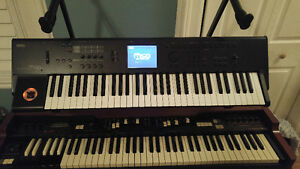 Korg M50 with case and stand