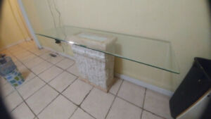 Glass table - Perfect for Kitchen or under wall mounted TV
