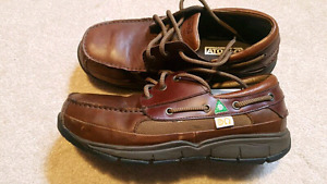 Brown Leather Work Safety shoes 10.5