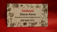 Celebrant Diane Kane