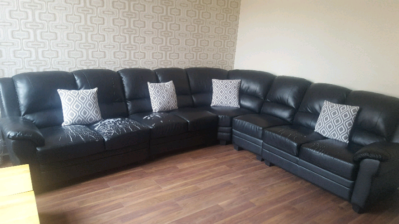 Leather corner sofa | in Fulwood, Lancashire | Gumtree