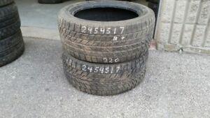 Pair of 2 Toyo Observe Garit KX 245/45R17 WINTER tires (75% trea