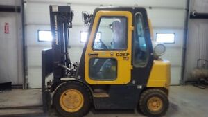 Doosan enclosed and heated Forklift