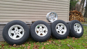 Jeep TJ Wrangler TJ Sahara Goodyear Winter Tires and OEM Rims