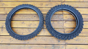 Like New Dunlop Front & Rear Motorcycle Tires (Off Road Only)